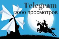 Авто просмотры постов в Телеграм 2 - kwork.ru