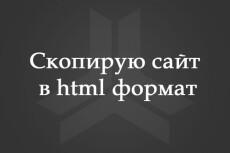 Сделаю копию любого сайта-визитки в html 25 - kwork.ru