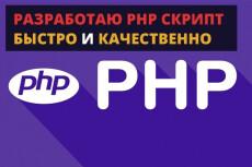 Написание, доработка, изменение скриптов на PHP любой сложности 16 - kwork.ru