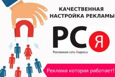 Качественная настройка рекламы в РСЯ 12 - kwork.ru