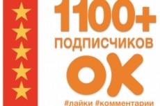 1000 подписчиков в вашу группу в одноклассниках - живые люди + Бонус 11 - kwork.ru