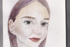 Портрет по фото в стиле акварель 20 - kwork.ru