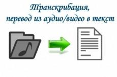 Транскрибация, перевод из аудио в текст, перевод из видео в текст 19 - kwork.ru
