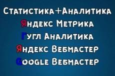 Настройка Статистики для сайта, Яндекс метрика 8 - kwork.ru