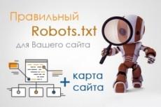 Настрою на сайте правильную карту сайта и  robots.txt Wordpress 7 - kwork.ru