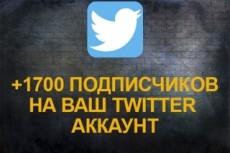 1700 подписчиков в ваш аккаунт Twitter 19 - kwork.ru