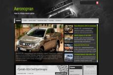Автонаполняемый сайт автомобильной тематики на WordPress 18 - kwork.ru