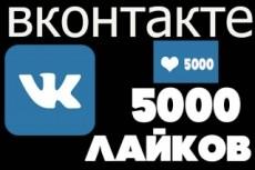 2000 лайков с охватом в ВКонтакте, можно распределить 9 - kwork.ru