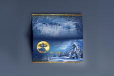 Новогодний набор конверт, письмо, грамота, карманный календарик 37 - kwork.ru