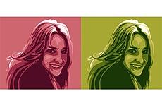 2 портрета в поп-арт стиле по фотографии 20 - kwork.ru