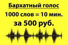 Озвучу ваш текст, мужской голос, 70 слов максимум 4 - kwork.ru