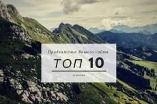 Продвину в топ одну страницу вашего сайта 6 - kwork.ru