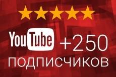 300 подписчиков Youtube 17 - kwork.ru