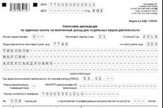 Декларация по ЕНВД для ИП 12 - kwork.ru