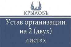 Составлю Устав ООО 9 - kwork.ru