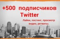Комплексное продвижение в Твиттер - 50 подписчиков 7 - kwork.ru