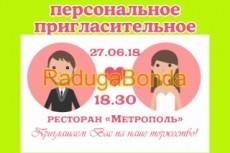 Сделаю пригласительные для ваших гостей 9 - kwork.ru