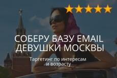 База email адресов женщин из Москвы и МО 6 - kwork.ru