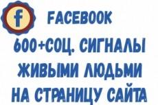 250+ соц. сигналов с вашего сайта живыми людьми 15 - kwork.ru