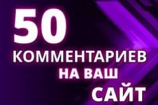 1 комментарий в день в течение 30 дней на Ваш сайт, не в соц. сетях 21 - kwork.ru