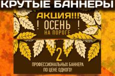 Баннер для сайта за один кворк 62 - kwork.ru