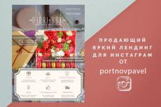 Разработка Landing Page Instagram 7 - kwork.ru