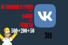 5000 лайков от живых подписчиков VKontakte на фото, записи, видео 24 - kwork.ru