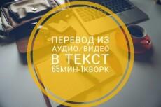Чёткая, быстрая, грамотная транскрибация аудио, видео, pdf в текст 17 - kwork.ru