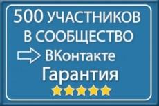500 живых участников в группу ВК, ВКонтакте, без ботов и программ 17 - kwork.ru