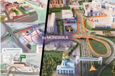 3D схема коттеджного посёлка 63 - kwork.ru