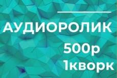 Сделаю аудиоролик 20 - kwork.ru