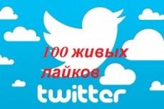 Лайки в Twitter 333 шт. Можно разделить на несколько постов 4 - kwork.ru