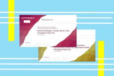 Дизайн-макет сертификата 20 - kwork.ru