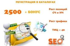 Регистрация сайта в каталогах строительство, ремонт. Бонусы 20 - kwork.ru