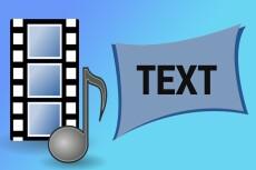 Расшифровка аудио- и видео файлов 12 - kwork.ru