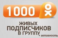 Одноклассники 900 живых подписчиков в группу 14 - kwork.ru