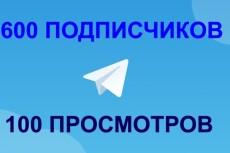 1000 русских подписчиков с просмотрами на telegram 4 - kwork.ru