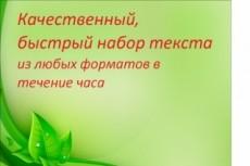 Переведу аудио и видео в текст. Наберу текст с pdf, сканов, рукописей 17 - kwork.ru