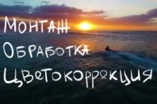 Монтаж и обработка видео + цветокоррекция 12 - kwork.ru