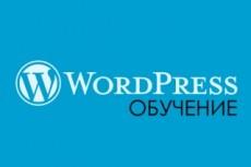 Научу создавать сайты на  WordPress 17 - kwork.ru