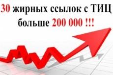 20 неприлично жирных ссылок. Общий ТИЦ трастов 150.000+ 13 - kwork.ru
