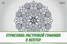 Переведу растровое изображение в вектор 97 - kwork.ru