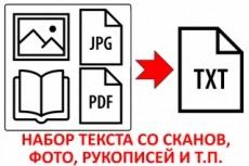 Быстрый и грамотный набор текста 39 - kwork.ru