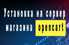 Создание магазина на OpenCart 20 - kwork.ru