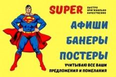 Стильная афиша, плакат, постер для вашего события 21 - kwork.ru