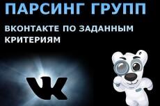 Парсинг людей и групп ВКонтакте по любым запросам 4 - kwork.ru