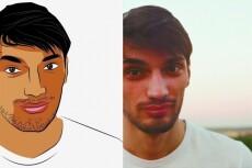 Нарисую портрет в векторе 16 - kwork.ru