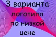 Создам три варианта логотипа на любой вкус 29 - kwork.ru