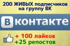 1000 Репостов +1000 Лайков ВКонтакте, комплект 14 - kwork.ru