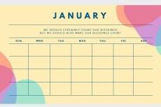 Разработаю дизайн квартального календаря - Трио 46 - kwork.ru